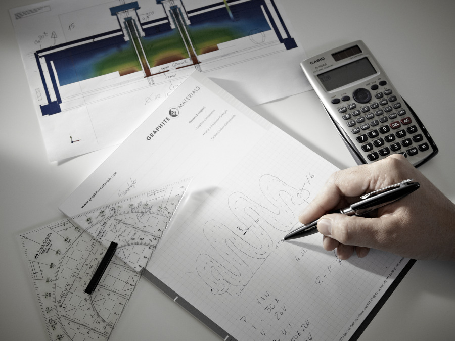 Konstruktion_Skizze mit Hand