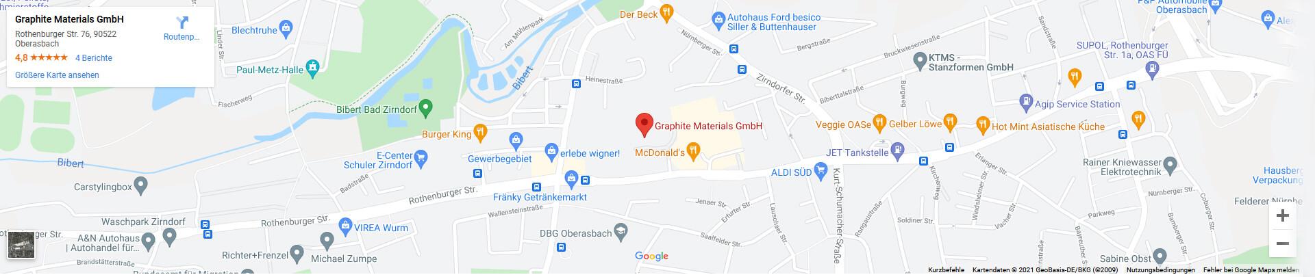Anfahrt zu Graphite Materials mit Google Maps Routenplaner